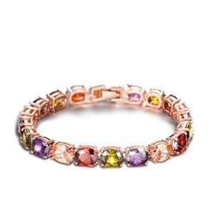 Jewelry - 🌻 rosegold plated CZ bracelet_NWT